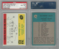 1964 Philadelphia Football, #14 Baltimore Colts, Shula, PSA 8 NMMT