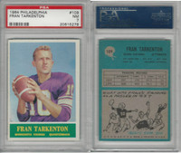 1964 Philadelphia Football, #109 Fran Tarkenton HOF, Vikings, PSA 7 NM