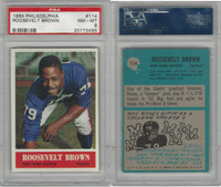 1964 Philadelphia Football, #114 Roosevelt Brown HOF, Giants, PSA 8 NMMT