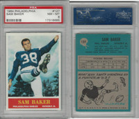 1964 Philadelphia Football, #127 Sam Baker, Eagles, PSA 8 NMMT