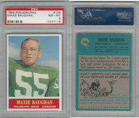 1964 Philadelphia Football, #128 Maxie Baughan, Eagles, PSA 8 NMMT