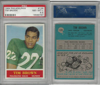 1964 Philadelphia Football, #129 Timmy Brown, Eagles, PSA 8.5 NMMT