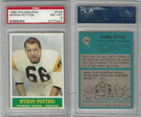 1964 Philadelphia Football, #149 Myron Pottios, Steelers, PSA 8 NMMT