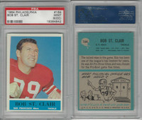 1964 Philadelphia Football, #164 Bob St. Clair HOF, 49ers, PSA 9 OC Mint