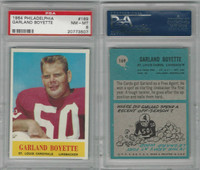 1964 Philadelphia Football, #169 Garland Boyette, Cardinals, PSA 8 NMMT