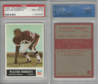 1965 Philadelphia Football, #38 Walter Roberts, Browns, PSA 8 NMMT