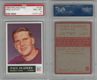1965 Philadelphia Football, #106 Paul Flatley, Vikings, PSA 8 NMMT