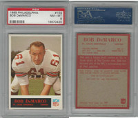 1965 Philadelphia Football, #159 Bob Demarco, Cardinals, PSA 8 NMMT