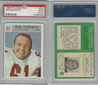 1966 Philadelphia Football, #161 Bob Demarco, Cardinals, PSA 9 OC Mint