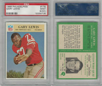 1966 Philadelphia Football, #178 Gary Lewis, 49ers, PSA 9 OC Mint