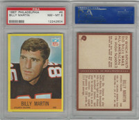 1967 Philadelphia Football, #6 Billy Martin, Falcons, PSA 8 NMMT
