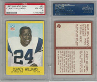 1967 Philadelphia Football, #95 Clancy Williams, Rams, PSA 8 NMMT