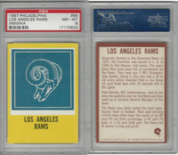 1967 Philadelphia Football, #96 Los Angeles Rams, PSA 8 NMMT