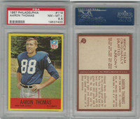 1967 Philadelphia Football, #119 Aaron Thomas, Giants, PSA 8.5 NMMT+