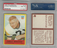 1967 Philadelphia Football, #122 Charley Bradshaw, Saints, PSA 8 NMMT