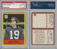 1967 Philadelphia Football, #131 Gary Wood, Saints, PSA 8 NMMT