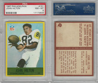 1967 Philadelphia Football, #151 John Hilton, Steelers, PSA 8 NMMT