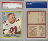 1967 Philadelphia Football, #166 Jerry Stovall, Cardinals, PSA 8 NMMT