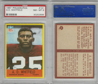 1967 Philadelphia Football, #191 A.D. Whitfield, PSA 8 NMMT