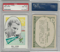 1961 Nu-Card Football, #120 Bill King, Dartmouth, PSA 8 NMMT