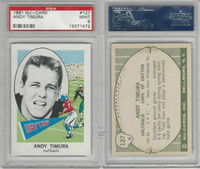 1961 Nu-Card Football, #127 Andy Timura, Dayton, PSA 9 Mint