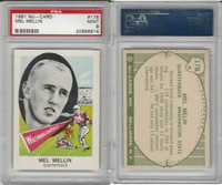 1961 Nu-Card Football, #178 Mel Mellin, Washington State, PSA 9 Mint