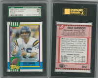 1990 Topps Football Traded, #70T Rich Gannon RC, Vikings, SGC 96 Mint