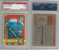 1972 Topps Hockey, #59 Ron Schock, Penguins, PSA 9 Mint