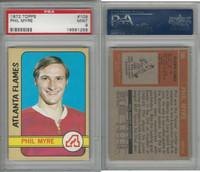 1972 Topps Hockey, #109 Phil Myre RC, Flames, PSA 9 Mint