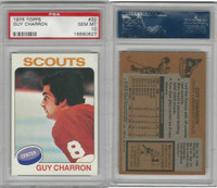 1975 Topps Hockey, #32 Guy Charron, Scouts, PSA 10 Gem