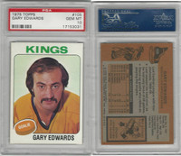 1975 Topps Hockey, #105 Gary Edwards, Kings, PSA 10 Gem