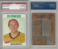 1975 Topps Hockey, #196 Bob Berry, Kings, PSA 10 Gem