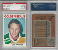 1975 Topps Hockey, #234 Jim Pappin, Golden Seals, PSA 10 Gem