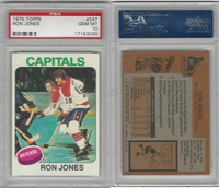 1975 Topps Hockey, #247 Ron Jones, Capitals, PSA 10 Gem