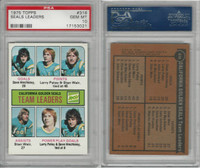 1975 Topps Hockey, #316 Seals Leaders, PSA 10 Gem