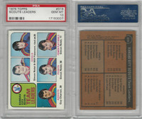 1975 Topps Hockey, #319 Scouts Leaders, PSA 10 Gem