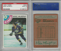 1978 Topps Hockey, #229 Mike Murphy, Kings, PSA 9 Mint