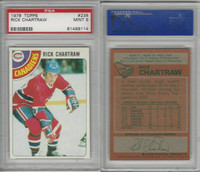 1978 Topps Hockey, #238 Rick Chartraw, Canadiens, PSA 9 Mint