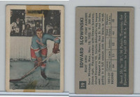 1952 Parkhurst Hockey, #19 Ed Slowinski, New York Rangers