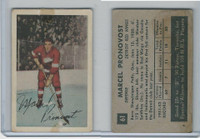 1952 Parkhurst Hockey, #61 Marcel Pronovost HOF, Detroit Red Wings