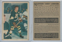 1953 Parkhurst Hockey, #90 Ed Sandford, Boston Bruins