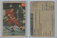 1954 Parkhurst Hockey, #47 Keith Allan, Detroit Red Wings