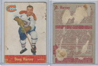 1955 Parkhurst Hockey, #45 Doug Harvey HOF, Montreal Canadiens