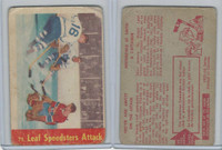 1955 Parkhurst Hockey, #75 Leaf Speedsters Attack, Nesterenko, Smith