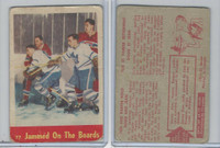 1955 Parkhurst Hockey, #77 Jammed on the Boards, Harvey, Beliveau