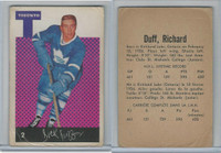 1962 Parkhurst Hockey, #2 Dick Duff, Toronto Maple Leafs