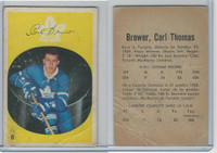 1962 Parkhurst Hockey, #8 Carl Brewer, Toronto Maple Leafs