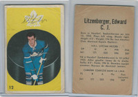 1962 Parkhurst Hockey, #12 Ed Litzenberger, Toronto Maple Leafs