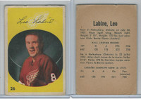 1962 Parkhurst Hockey, #26 Leo Labine, Detroit Red Wings