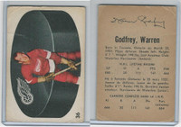 1962 Parkhurst Hockey, #36 Warren Godfrey, Detroit Red Wings